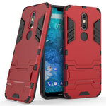 Slim Armour Tough Shockproof Kickstand Case for Nokia 7.1 - Red
